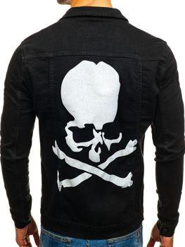 Куртка джинсова чоловіча чорна Bolf 2052