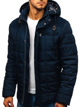 Куртка чоловіча зимова темно-синя Bolf 1820