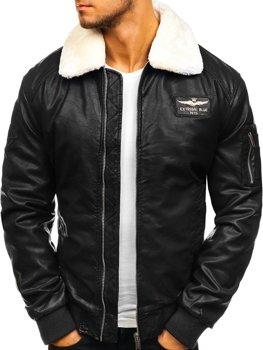 Куртка чоловіча куртка-пілот чорна Bolf EX837