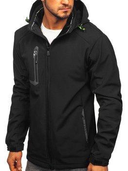 Куртка чоловіча софтшелл чорно-жовта Bolf 12267