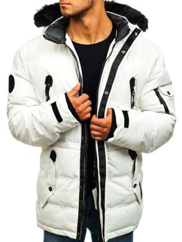 Лижна чоловіча зимова куртка біла Bolf 5423 6c448a95453de