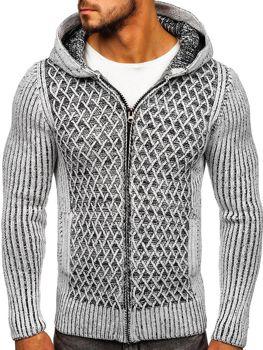 Мужской свитер серо-черный Bolf 20016