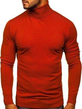 Помаранчевий чоловічий светр гольф Bolf YY02