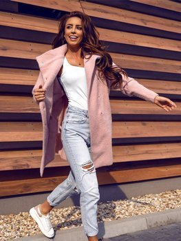 Рожеве жіноче пальто Bolf 7118-1