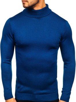 Светр чоловічий гольф синій Bolf 4519