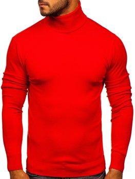 Світло-червоний чоловічий светр гольф Bolf YY02