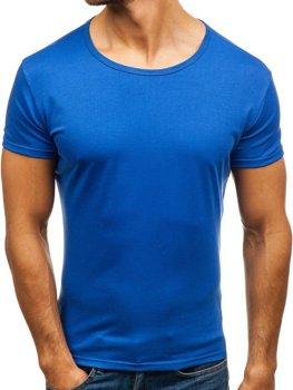 Синя футболка чоловіча без принта Bolf 2006