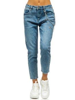 Сині жіночі джинси mom fit Bolf FL1695
