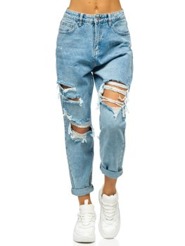 Сині жіночі джинси mom fit Bolf WL1690