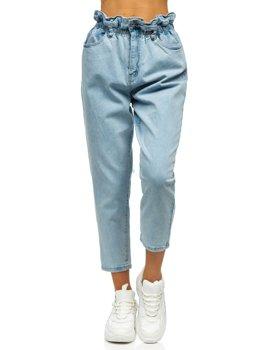Сині жіночі джинси mom fit Bolf WL1758