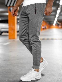 Сірі чоловічі спортивні шорти Bolf JX8201