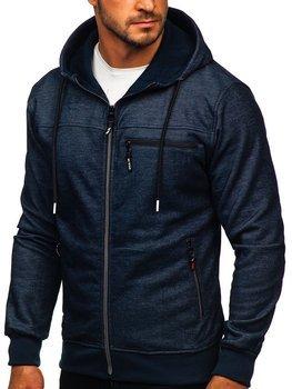 Темно-синя чоловіча толстовка з капюшоном Bolf TC994
