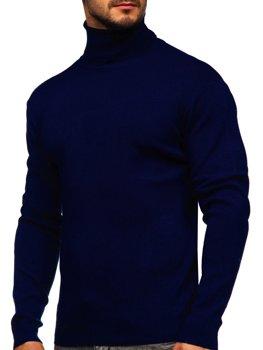 Темно-синій чоловічий светр гольф Bolf H2025