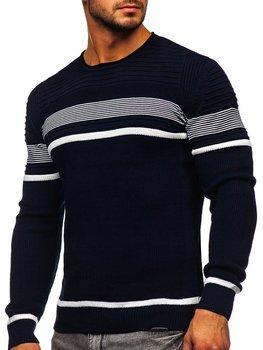 Темно-синій чоловічий светр Bolf 1061