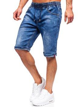 Темно-сині джинсові шорти чоловічі Bolf k15010