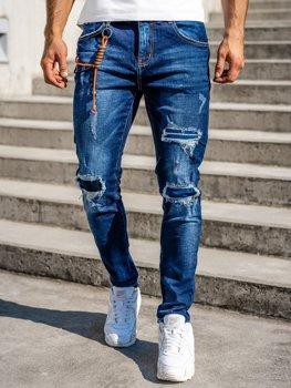 Темно-сині чоловічі джинси slim fit Bolf R85019W0
