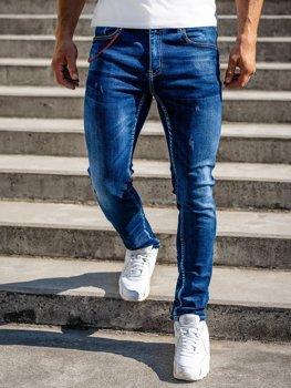 Темно-сині чоловічі джинсові штани regular fit Bolf 80025W0