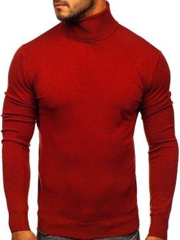 Темно-червона чоловічий светр гольф Bolf YY02