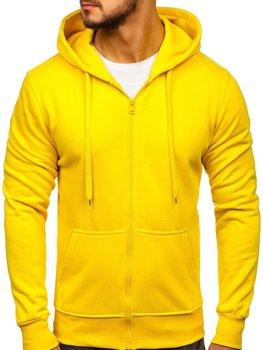 Толстовка чоловіча з капюшоном жовта Bolf 2008