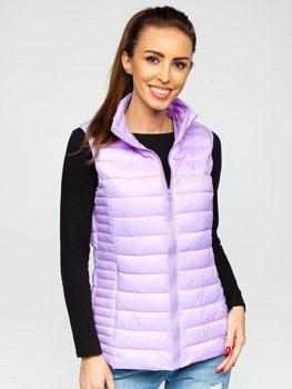 Фіолетовий стьобаний жіночий жилет Bolf 23038