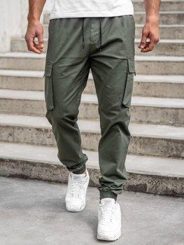 Хакі чоловічі штани джоггери-карго Bolf 701
