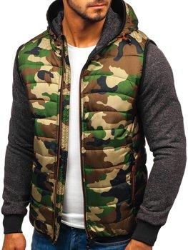 Чоловіча демісезонна куртка камуфляж-помаранчева Bolf 3757