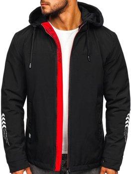 Чоловіча демісезонна куртка чорна Bolf 5985