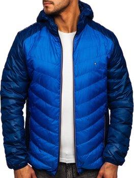 Чоловіча демісезонна спортивна куртка синя Bolf 1905