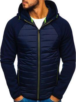 Чоловіча демісезонна спортивна куртка темно-синя Bolf KS1917