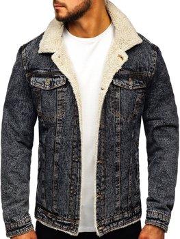 Чоловіча джинсова куртка графітова Bolf 1109