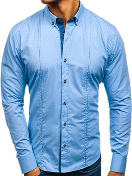 Чоловіча елегантна сорочка чорно-коричнева Bolf 4708 ЧОРНО-КОРИЧНЕВИЙ 02cf4d8881a80