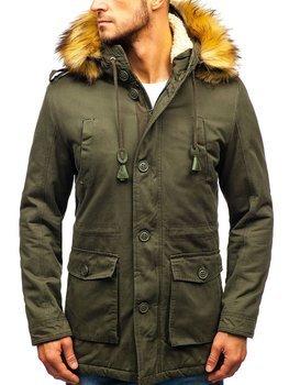 Чоловіча зимова куртка парка хакі Bolf 88709