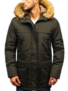 Чоловіча зимова куртка парку хакі Bolf R105