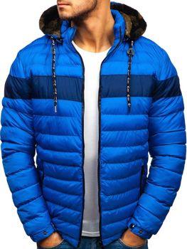 Чоловіча зимова куртка синя Bolf A410 d3d8422db0a45