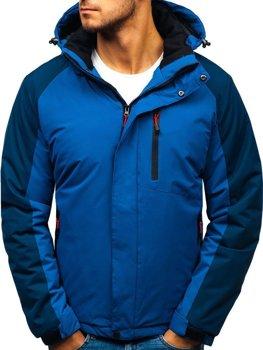 Чоловіча зимова куртка синя Bolf HZ8102