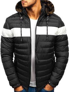 Чоловіча зимова куртка чорна Bolf A410