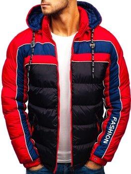 Чоловіча зимова куртка чорна Bolf A429