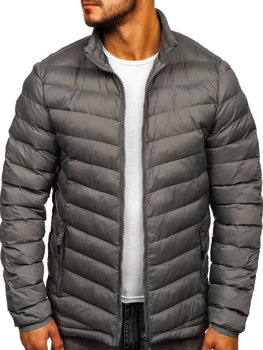 Чоловіча зимова спортивна куртка графітова Bolf SM70