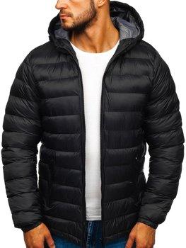 Чоловіча зимова спортивна куртка чорна Bolf JP1101