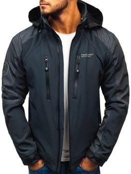 Чоловіча куртка софтшелл графітова Bolf P06