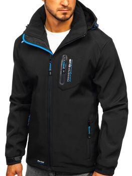 Чоловіча куртка софтшелл чорно-синя Bol P5608
