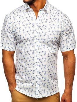 Чоловіча сорочка з візерунком з коротким рукавом мультиколор-1 Bolf TSK101
