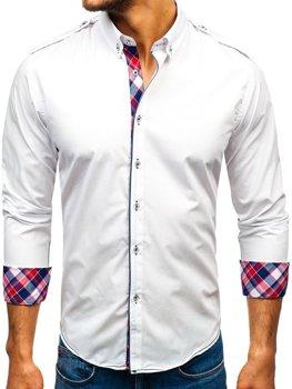 Чоловіча сорочка з довгим рукавом біла Bolf 1758