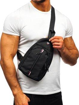 Чоловіча сумка через плече чорна Bolf T46