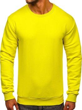 Чоловіча толстовка без капюшона світло-жовта Bolf 171715