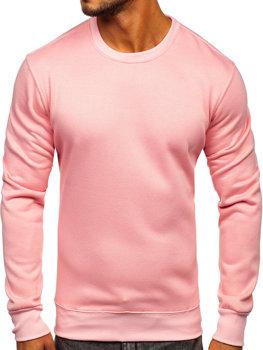 Чоловіча толстовка без капюшона світло-рожева Bolf 2001