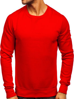 Чоловіча толстовка без капюшона світло-червоний Bolf 2001