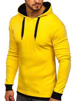 Чоловіча толстовка з капюшоном жовта Bolf 145380
