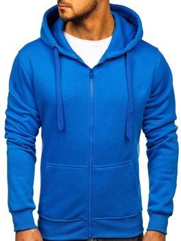 Чоловіча толстовка з капюшоном світло-синя Bolf 2008
