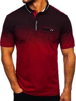 Чоловіча футболка поло бордова Bolf 6599-1